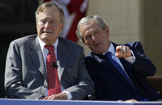 Both Bush presidents condemn racial bigotry after Trump's 'both sides' statement