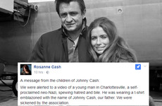 The family of Johnny Cash have perfectly slammed Nazis wearing t-shirts with the singer on them at Charlottesville