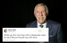 A woman posted a tweet predicting Bruce Forsyth's death, 7 hours before the news was announced