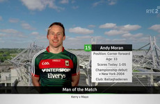 Do you agree with the man-of-the-match from today's All-Ireland semi-final?