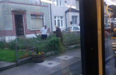 A lovely Dublin bus driver pulled over to help an elderly man into his home