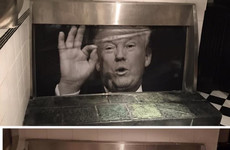 That iconic poster of Donald Trump in a Dublin pub's urinal has been stolen and they are offering a reward