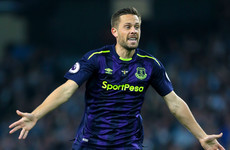 Gylfi Sigurdsson scores astonishing 50-yard volley as Everton reach group stages
