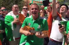A bunch of Irish lads had an impromptu singalong of There's Only One Conor McGregor in Vegas