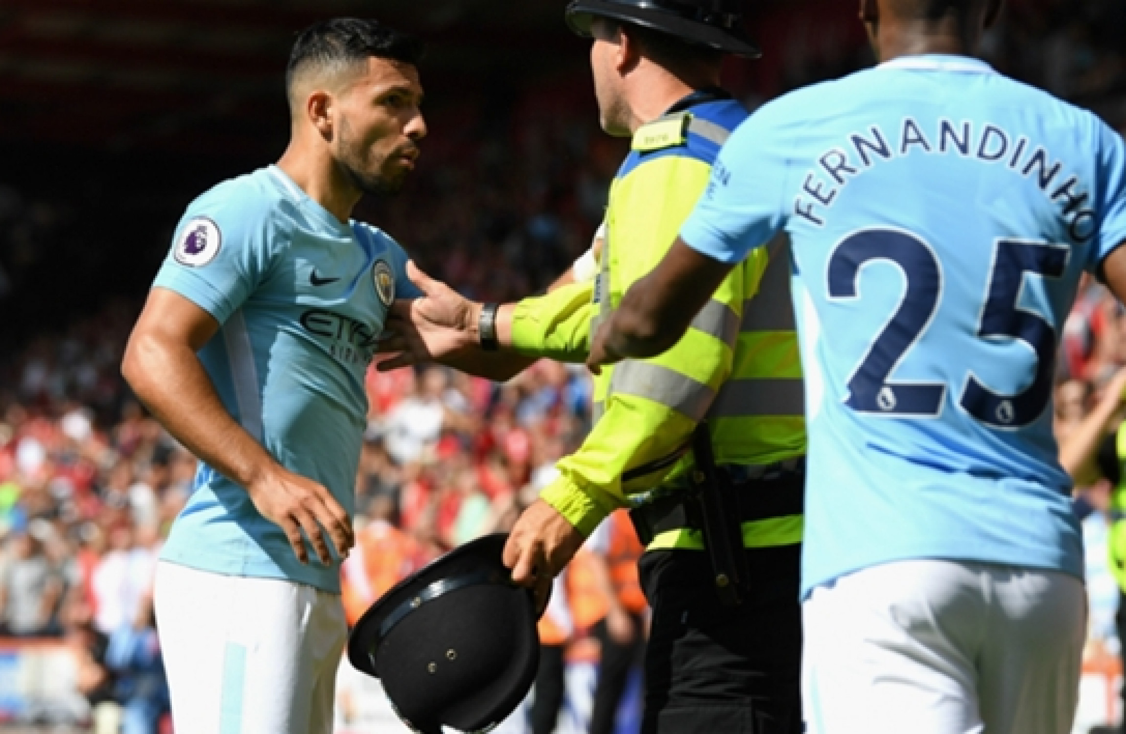 Sergio Aguero accused of assaulting a Bournemouth steward