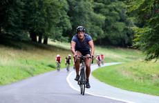 Leo Varadkar was among 1,100 competitors in this morning's Dublin City Triathlon