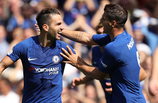Fabregas and Morata on target as Chelsea inflict first league defeat on Everton