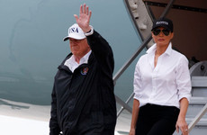 Trump visits disaster zone battered by Hurricane Harvey