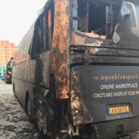 Irish team, Aqua Blue Sport, has bus destroyed in 'cowardly arson attack'