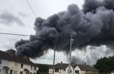 Firefighters tackling blaze at derelict factory in Dublin