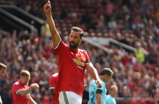 Van Nistelrooy scores for Man United on Old Trafford return