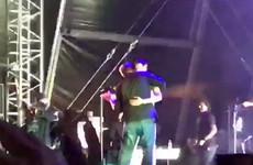 Elbow's lead singer Guy Garvey brilliantly dealt with a streaker at a festival last night