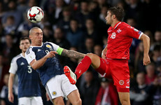 Scotland international accuses Malta defender of spitting at him