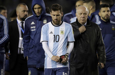 Lionel Messi may not be at next year's World Cup, as Argentina's qualification hopes suffer blow