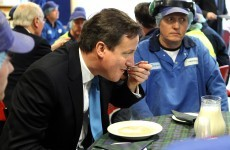 Caption competition: David Cameron eats porridge in Scotland