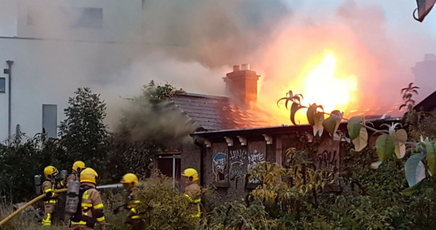 Firefighters battling large blaze at derelict building in north Dublin