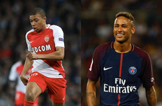 Kylian Mbappe inevitably scored on his PSG debut as they ominously racked up five