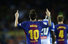 Lionel Messi grabs a derby hat-trick as Barca open up four-point lead over bitter rivals