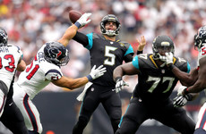 Jacksonville defence nails 10 sacks in comfortable win over Houston