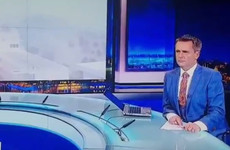 Aengus Mac Grianna had the best facial expression after a mistake on the RTÉ News last night
