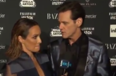 'There's no meaning to any of this' - Jim Carrey faced off with a baffled reporter at New York fashion week