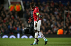 Major blow for Manchester United as Paul Pogba's special night ruined by injury