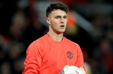Man United call up Ireland U21 goalkeeper to their Champions League squad