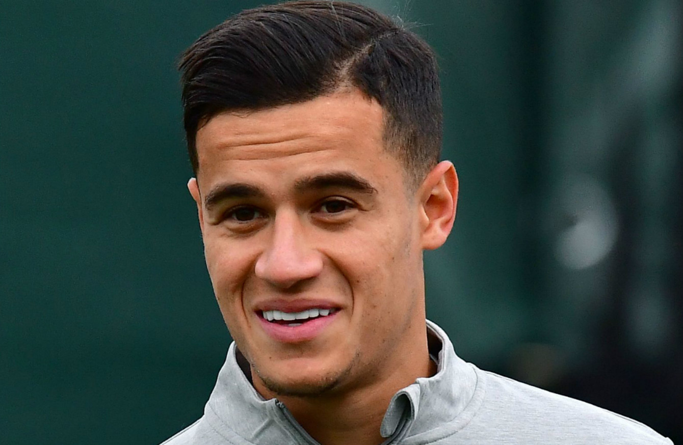 Coutinhos First Start Of The Season One Of Changes For Liverpool - Coutinho's hairstyle