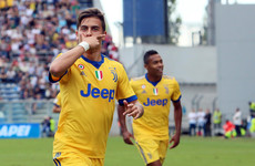 Watch: Stunning Paulo Dybala hat-trick helps Juventus maintain perfect Serie A record