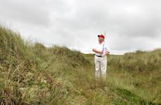 Donald Trump shares 'juvenile' mock video of golf ball striking Hillary Clinton