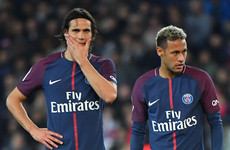Tensions simmer between Neymar and Cavani in PSG win