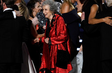 People think that Margaret Atwood is the ultimate nana after bringing her handbag on stage at the Emmys