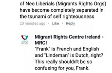 Migrant Rights Centre Ireland had the greatest comeback to a troll talking about being 'Irish'
