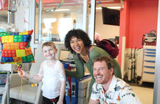 Michael Fassbender visited a children's hospital in Montreal and the photos are so sweet