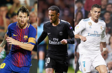 The usual suspects: Messi, Neymar and Ronaldo to battle it out for Fifa award