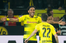 Aubameyang hits hat-trick in Dortmund rout as his battle with Robert Lewandowski continues