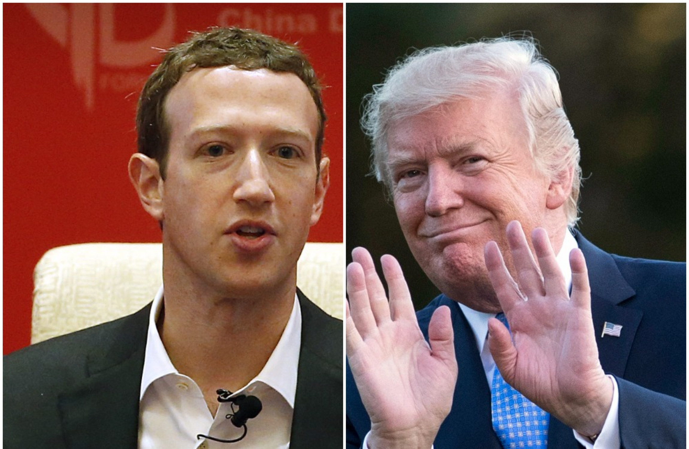 Image result for trump , facebook zuckerberg in fire fore fire