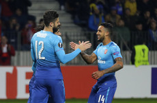 Giroud joins 100 club as Arsenal stroll to victory in Belarus