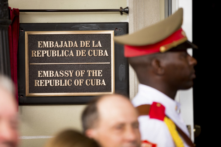 Two diplomats were expelled from the Cuban Embassy in Washington over the row.