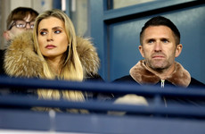 There's Robbie Keane at a Gaelic football club match this evening
