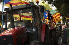Catalonia referendum: Tractors roll in and buildings occupied to support independence vote