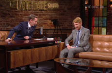 Ryan Tubridy mortified Domhnall Gleeson last night by sharing a video of his school's production of Grease