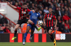 Leicester hold Bournemouth while Sakho produces a late winner for the Hammers