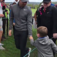 Rory McIlroy absolutely made this young fan's life by handing him his golfball