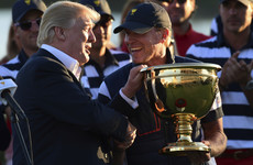 US captain Stricker 'thrilled' to receive Cup from Trump