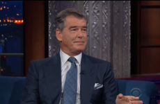 Stephen Colbert asked Pierce Brosnan what it's like to be a British icon and it was awkward