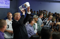 Trump tells Puerto Rican hurricane survivors to be 'proud' and tosses paper towels at them