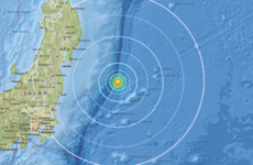 Powerful earthquake hits off the coast of eastern Japan
