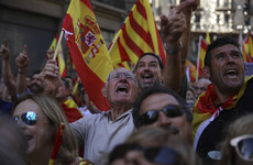 Thousands take to the streets of Barcelona campaigning against independence