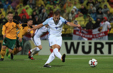 Harry Kane penalty sees England earn unconvincing win, Lewandowski record helps Poland qualify